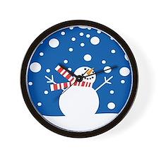 Holiday Snowman Wall Clock