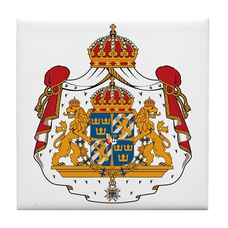 Swedish Coat of Arms Tile Coaster