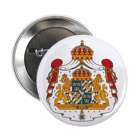 "Swedish Coat of Arms 2.25"" Button (10 pack)"