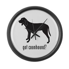 Coonhound Large Wall Clock