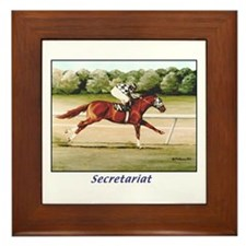 Secretariat Framed Tile