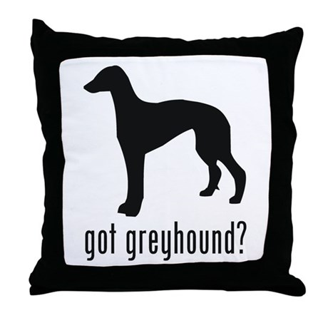 Greyhound 2 Throw Pillow