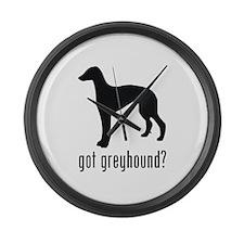 Greyhound 2 Large Wall Clock