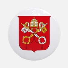 Vatican Coat of Arms Ornament (Round)