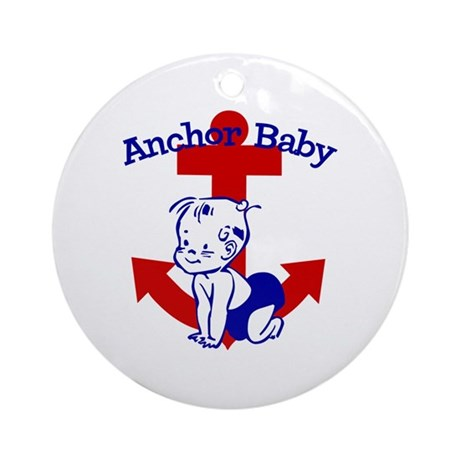 Anchor Baby Ornament (Round)