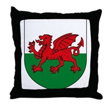 Welsh Coat of Arms Throw Pillow