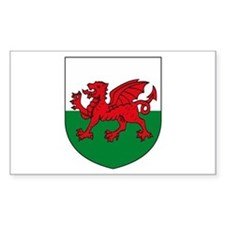 Welsh Coat of Arms Rectangle Decal