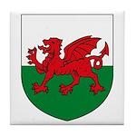 Welsh Coat of Arms Tile Coaster