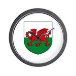 Welsh Coat of Arms Wall Clock