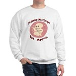 Baby Due In Sweatshirt