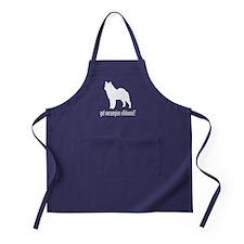 Norwegian Elkhound Apron (dark)