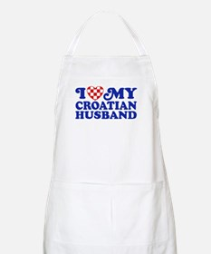 I Love My Croatian Husband Apron