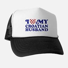 I Love My Croatian Husband Trucker Hat