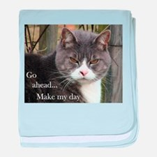 Go ahead Make my day - Cute Cat Infant Blanket