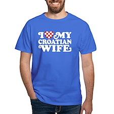 I Love My Croatian Wife T-Shirt