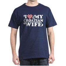 I Love My Croatian Wife T-Shirt
