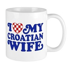 I Love My Croatian Wife Mug
