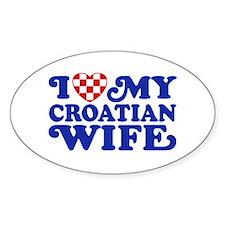 I Love My Croatian Wife Decal