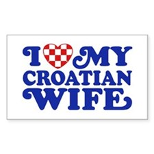 I Love My Croatian Wife Decal