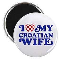 I Love My Croatian Wife Magnet
