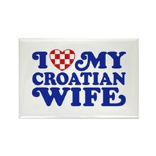 I Love My Croatian Wife Rectangle Magnet