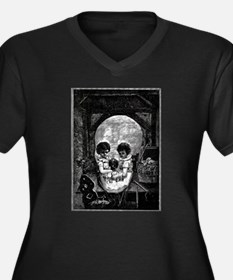 Skull Children Women's Plus Size V-Neck Dark T-Shi
