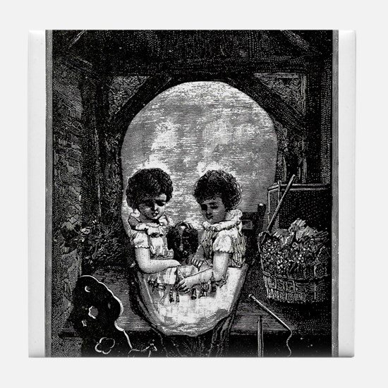 Skull Children Tile Coaster