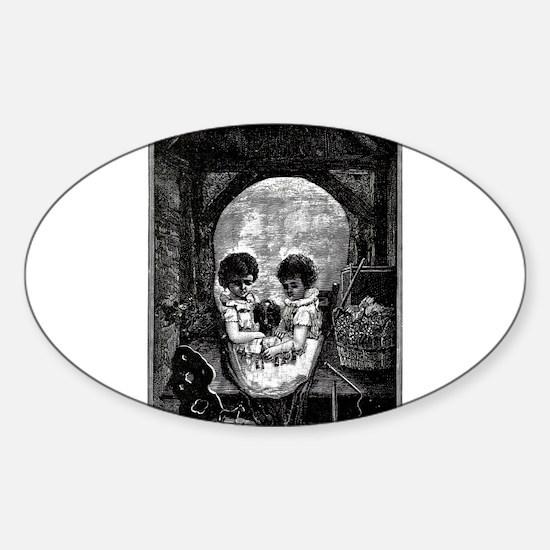 Skull Children Sticker (Oval)