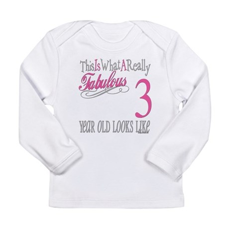 3rd Birthday Gifts Long Sleeve Infant T-Shirt