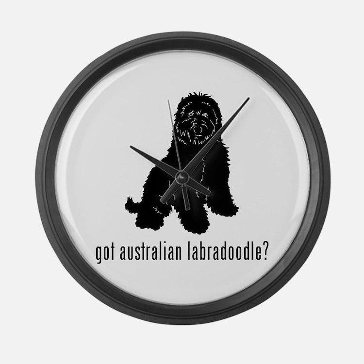 Australian Labradoodle Large Wall Clock