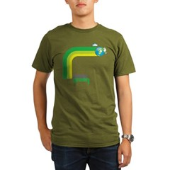 Think Green Earth Rainbow Organic Men's T-Shirt (d
