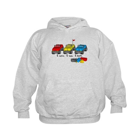 I Came. I Saw. I Built. Kids Hoodie