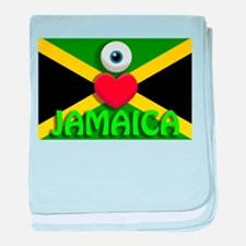 I Love Jamaica Infant Blanket