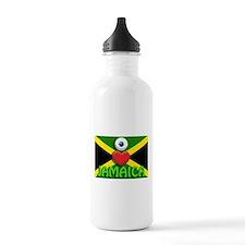 I Love Jamaica Water Bottle