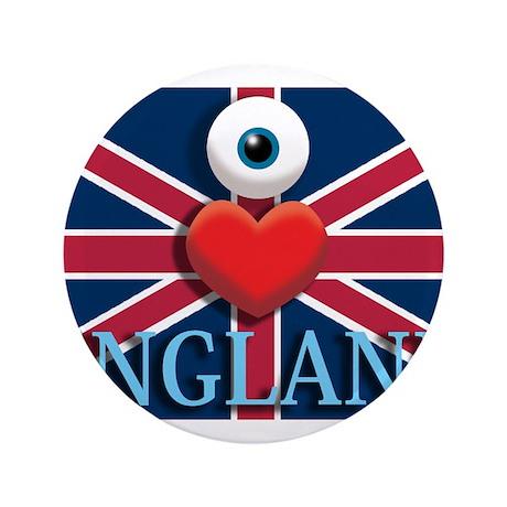 "I Love England 3.5"" Button"