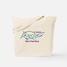 Sea Turtle Designs in Green & Tote Bag