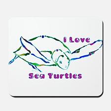 Sea Turtle Designs in Green & Mousepad