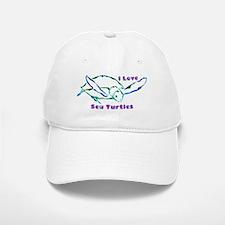 Sea Turtle Designs in Green & Baseball Baseball Cap