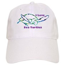 Sea Turtle Designs in Green & Baseball Cap