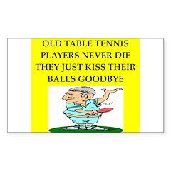table tennis Sticker (Rectangle 10 pk)