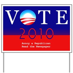 Vote Democratic Yard Sign - Annoy a Republican