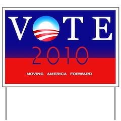Vote Democratic Yard Sign - Moving America Forward