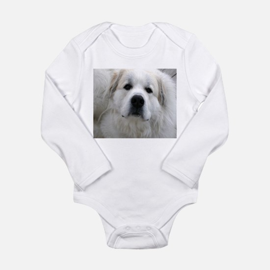 Great Pyrenees Long Sleeve Infant Bodysuit
