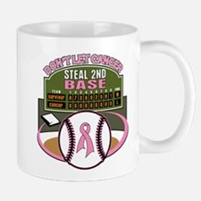 Dont Let Cancer Steal 2nd Base Mug
