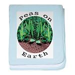 Peas On Earth baby blanket