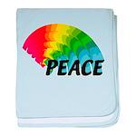 Rainbow Peace baby blanket