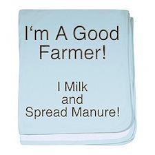 A Good Farmer baby blanket