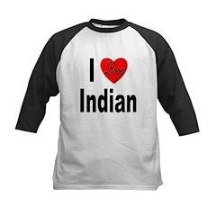 I Love Indian Kids Baseball Jersey