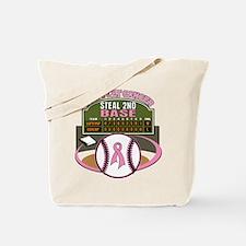Dont Let Cancer Steal 2nd Base Tote Bag
