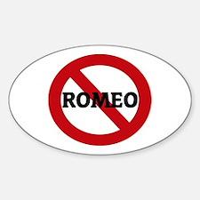 Anti-Romeo Oval Decal